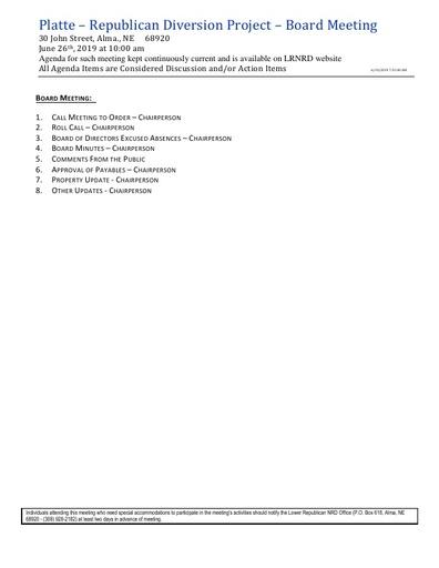 PRD Agenda FY'18-19 6/26/19