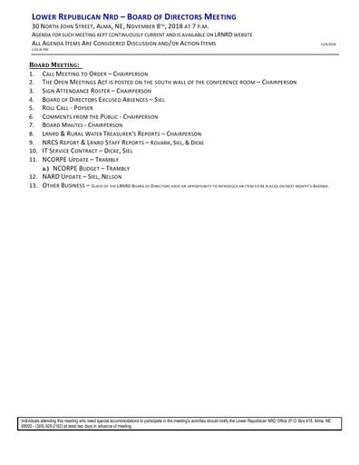 Agenda FY'19 11-08-2018