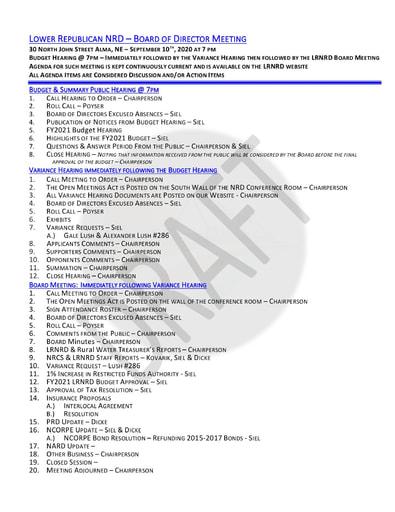 1 Agenda 9 10 2020